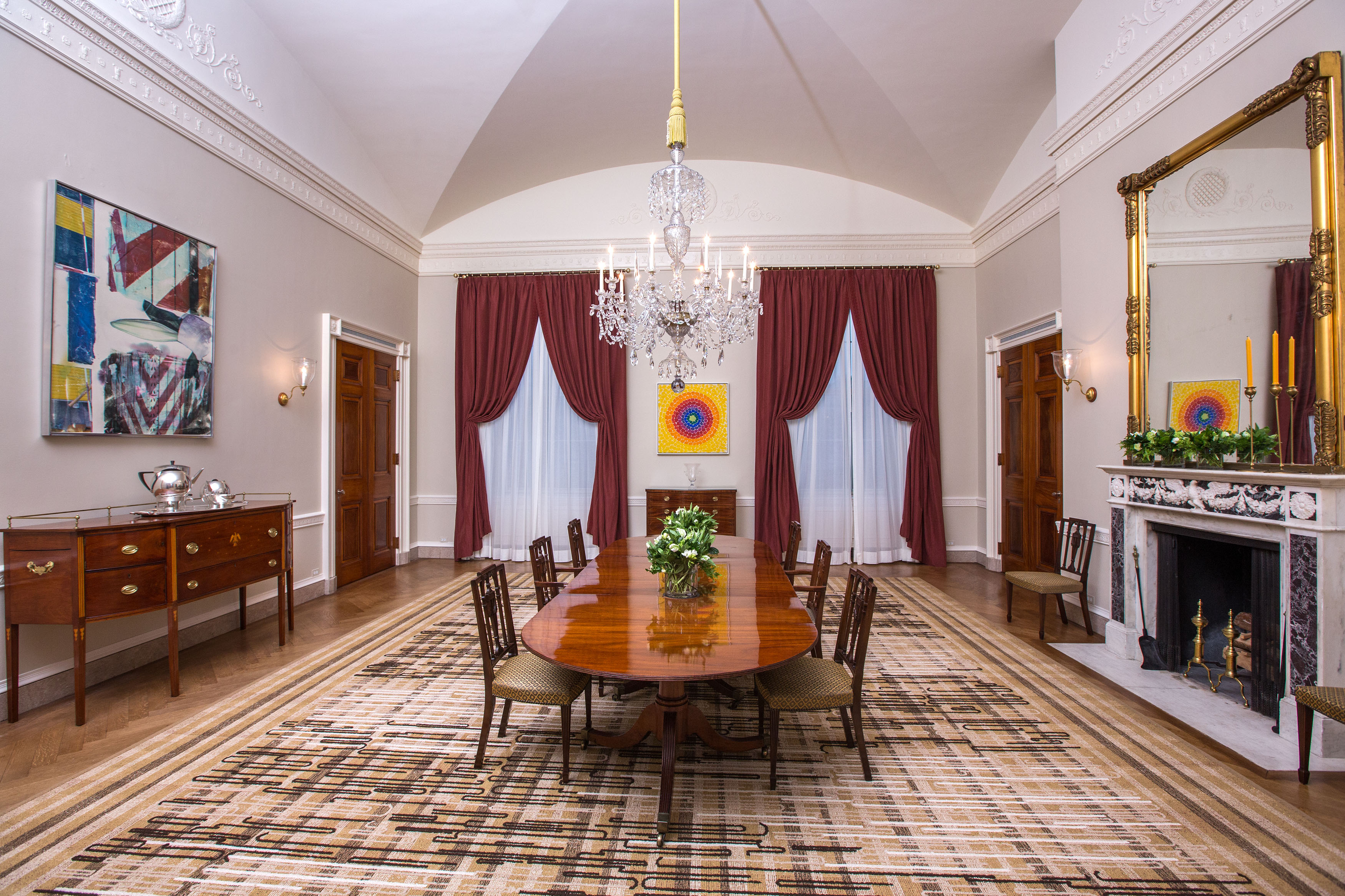 Family Dining Room Ideas Part - 42: The Old Family Dining Room Of The White House, Feb. 9, 2015.