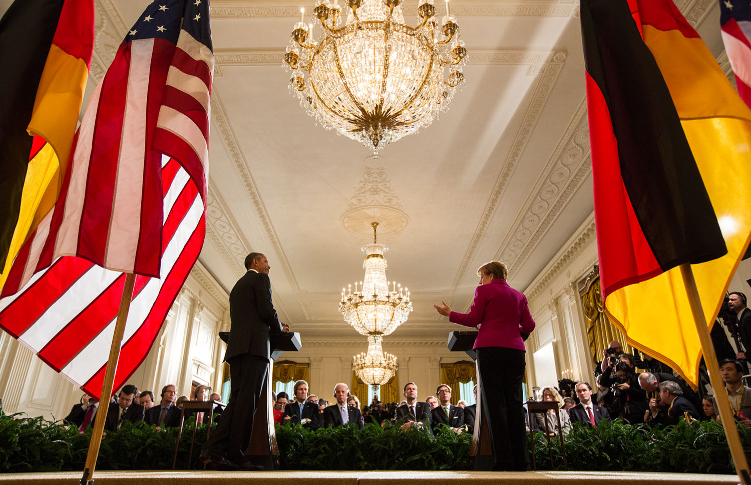 President Obama and Chancellor Merkel Participate in Joint Press Conference (1)