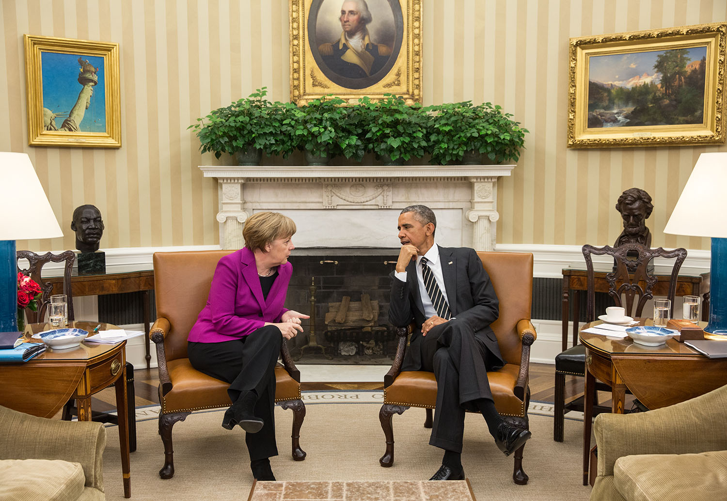 President Obama holds a bilateral meeting with Chancellor Angela Merkel of Germany