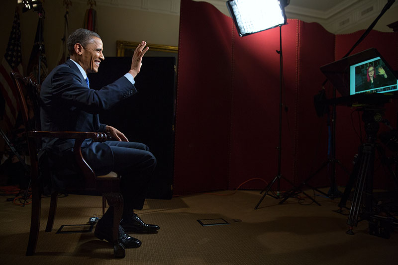 President Obama at 2nd Google+ Fireside Hangout, February 14, 2013