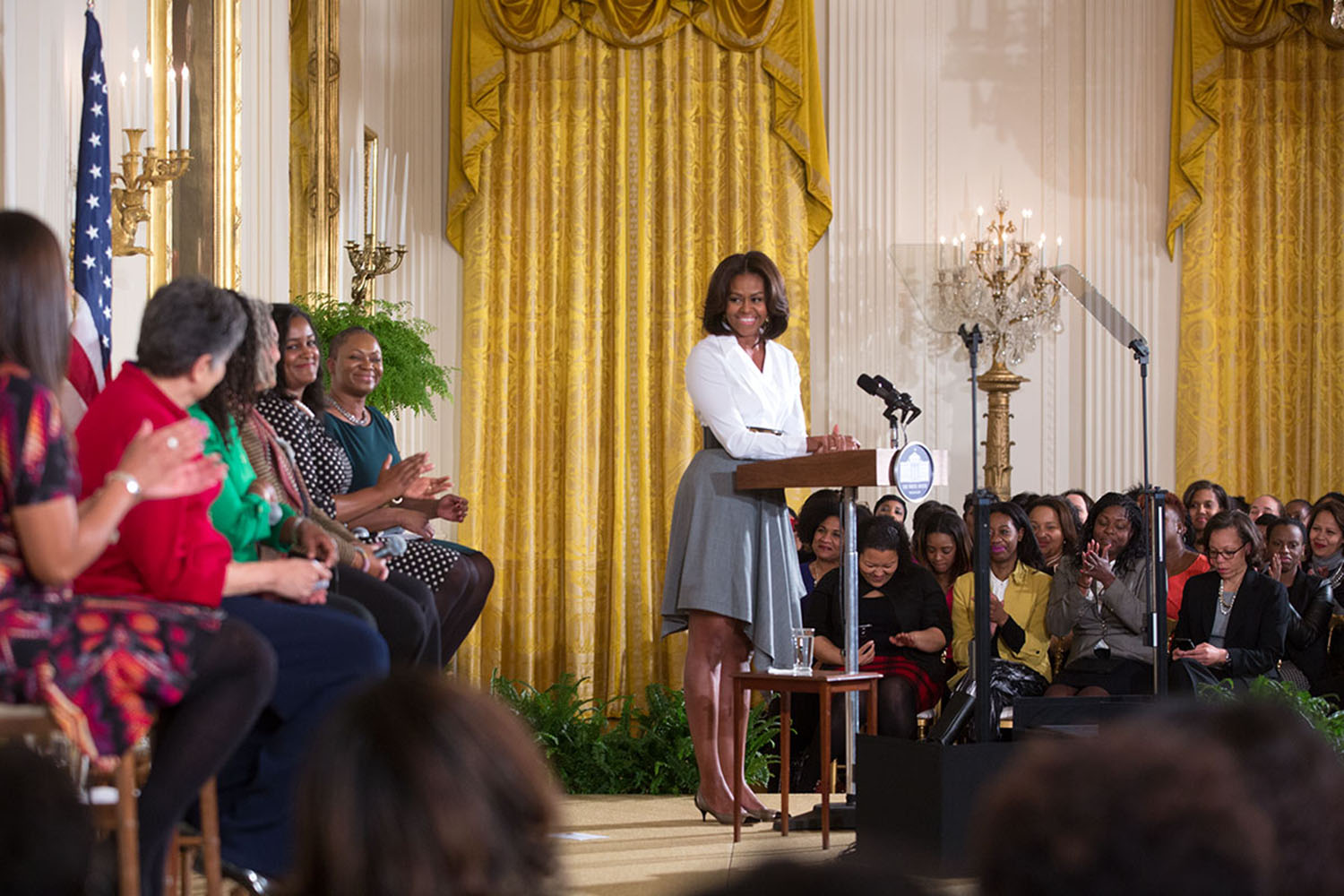 First Lady Michelle Obama delivers remarks at
