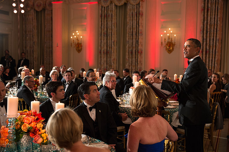 President Barack Obama at the National Governors Association Dinner, Feb. 24, 2013.