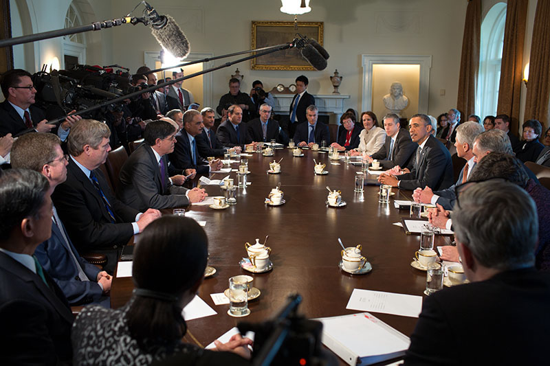 President Obama Holds Cabinet Meeting, March 4, 2013
