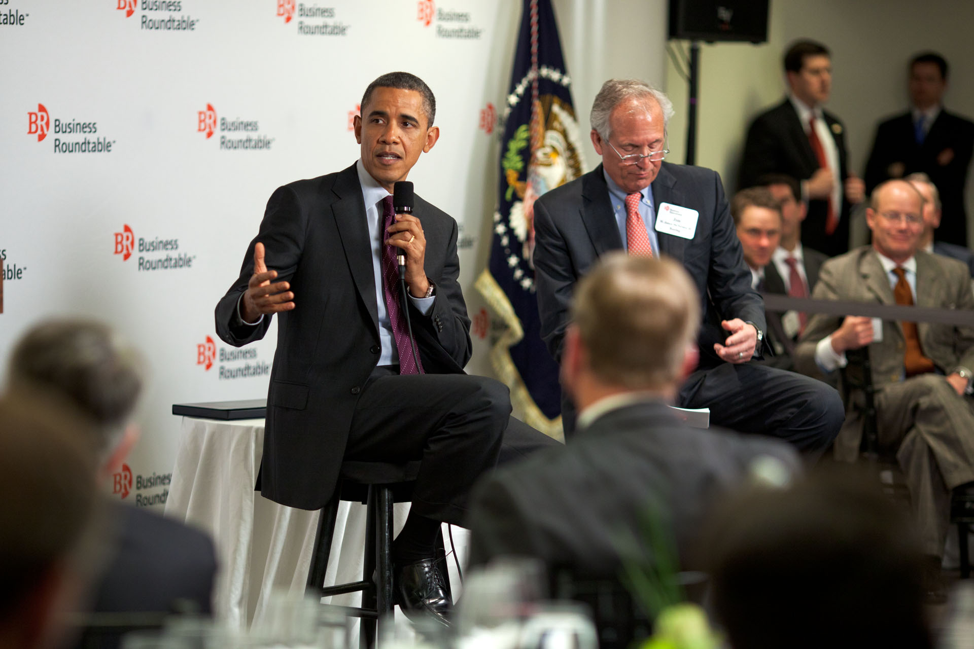 President Barack Obama at the Business Roundtable Quarterly Meeting