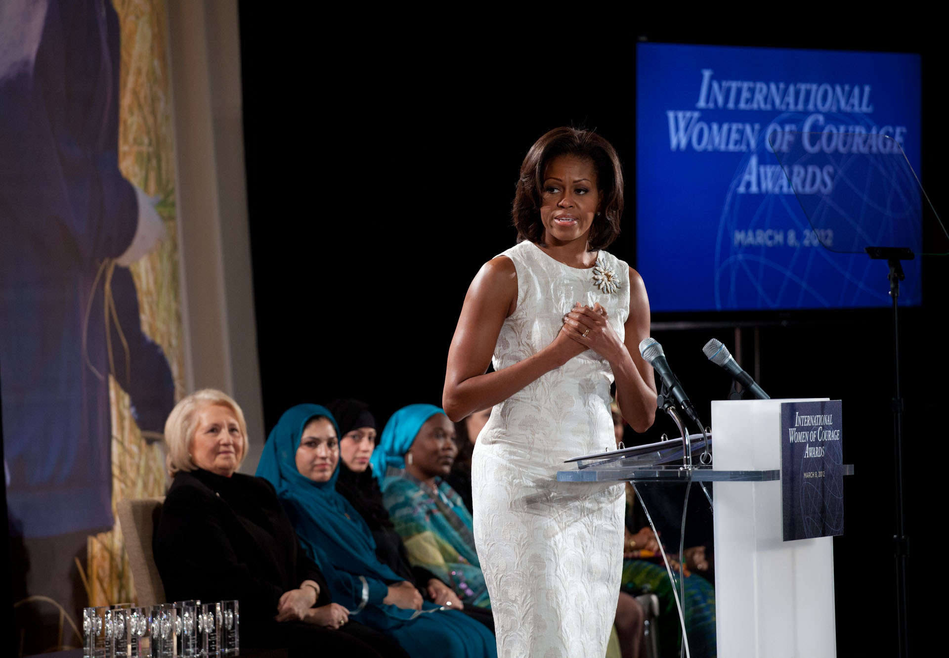 First Lady Michelle Obama at the International Women of Courage Awards
