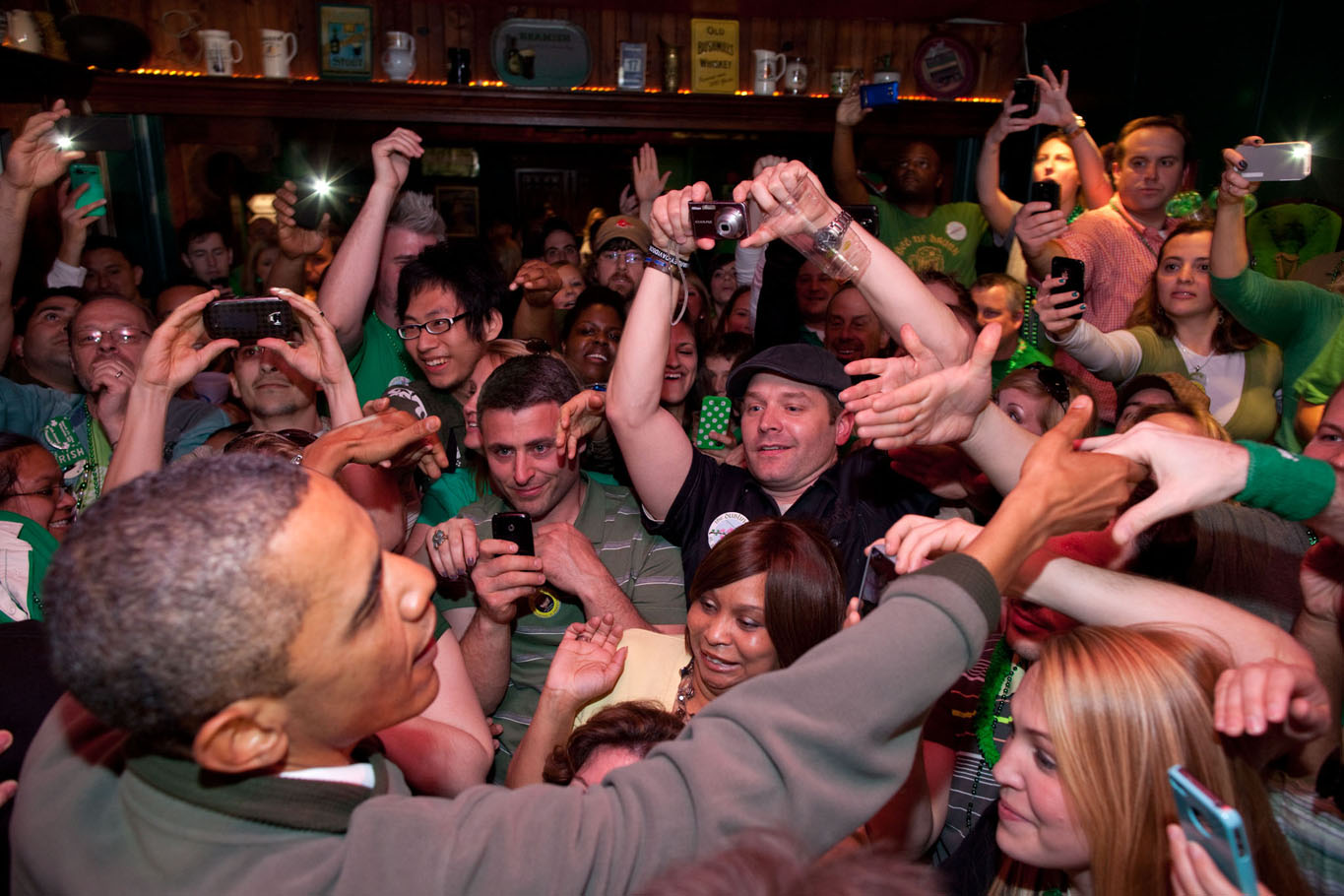 President Obama Greets the Crowd at the Dubliner