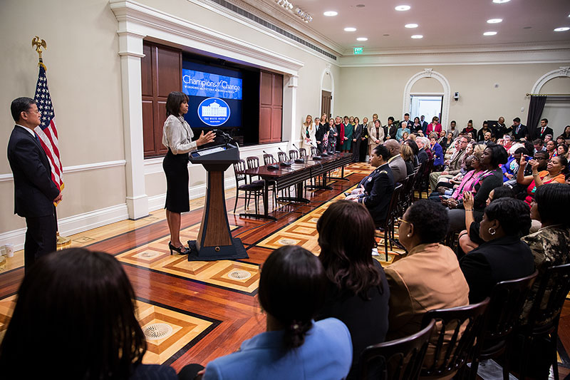 First Lady Michelle Obama Delivers Remarks Honoring Women's Veterans