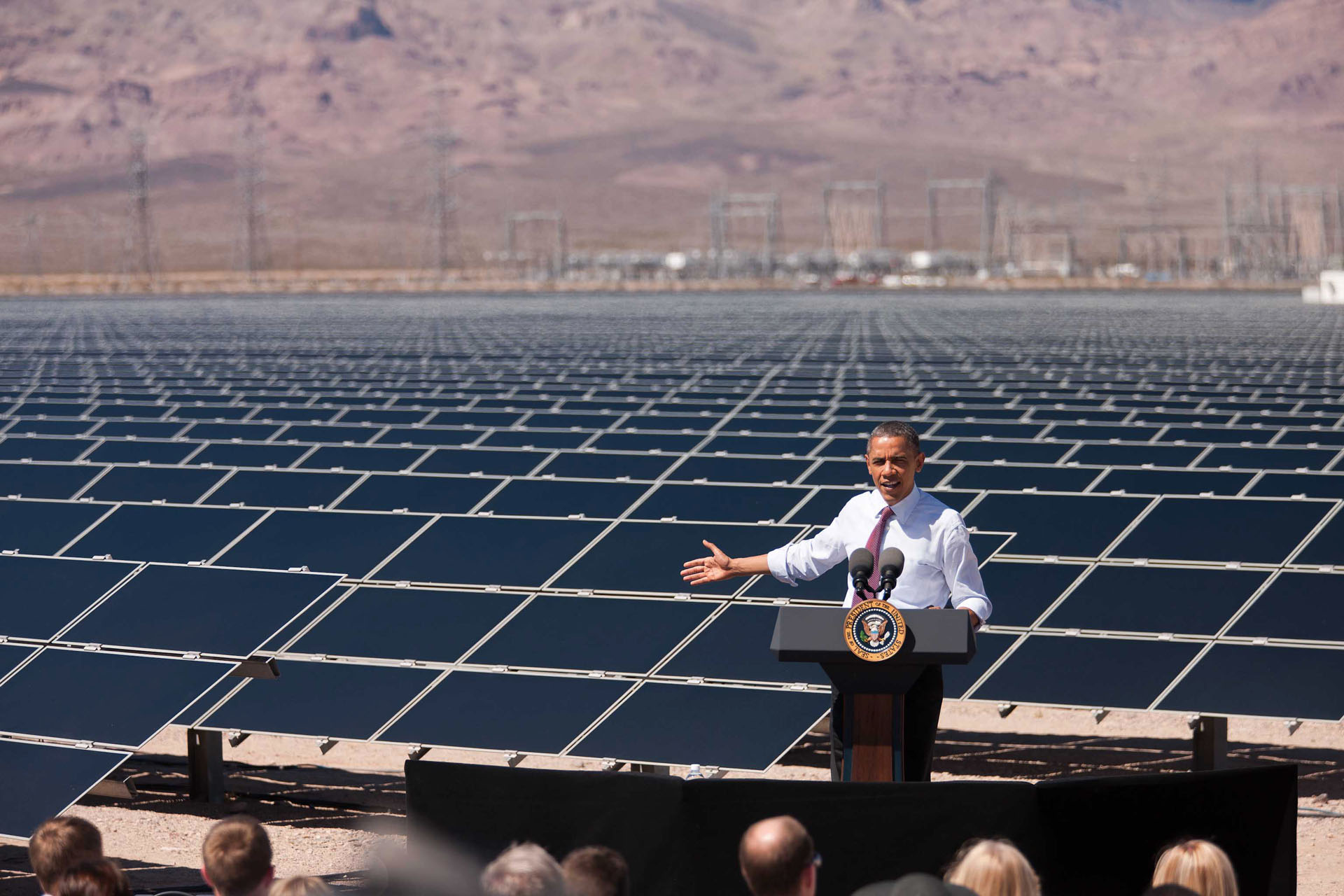 President Obama Delivers Remarks on Energy at the Copper Mountain Solar 1 Facility