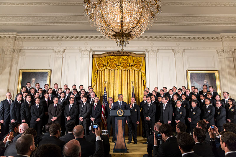 President Obama Welcomes the Los Angeles Kings and the LA Galaxy to the White House, March 26, 2013