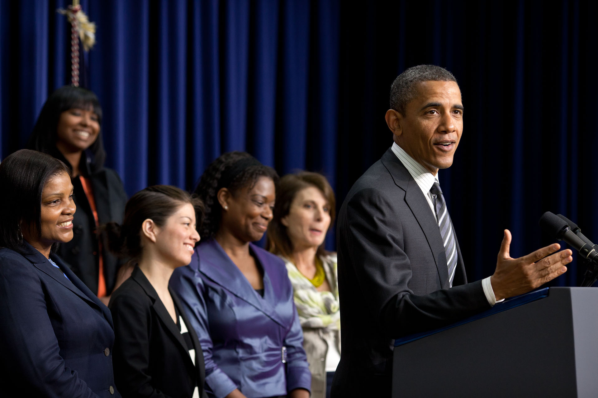 President Obama Delivers Remarks at the White House Forum on Women and the Economy