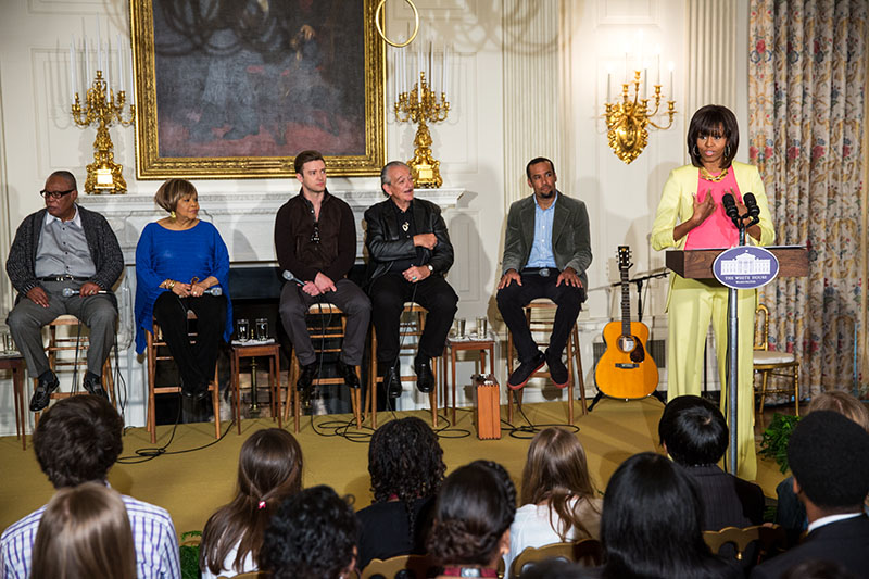 First Lady Michelle Obama Hosts Memphis Soul Student Workshop, April 9, 2013