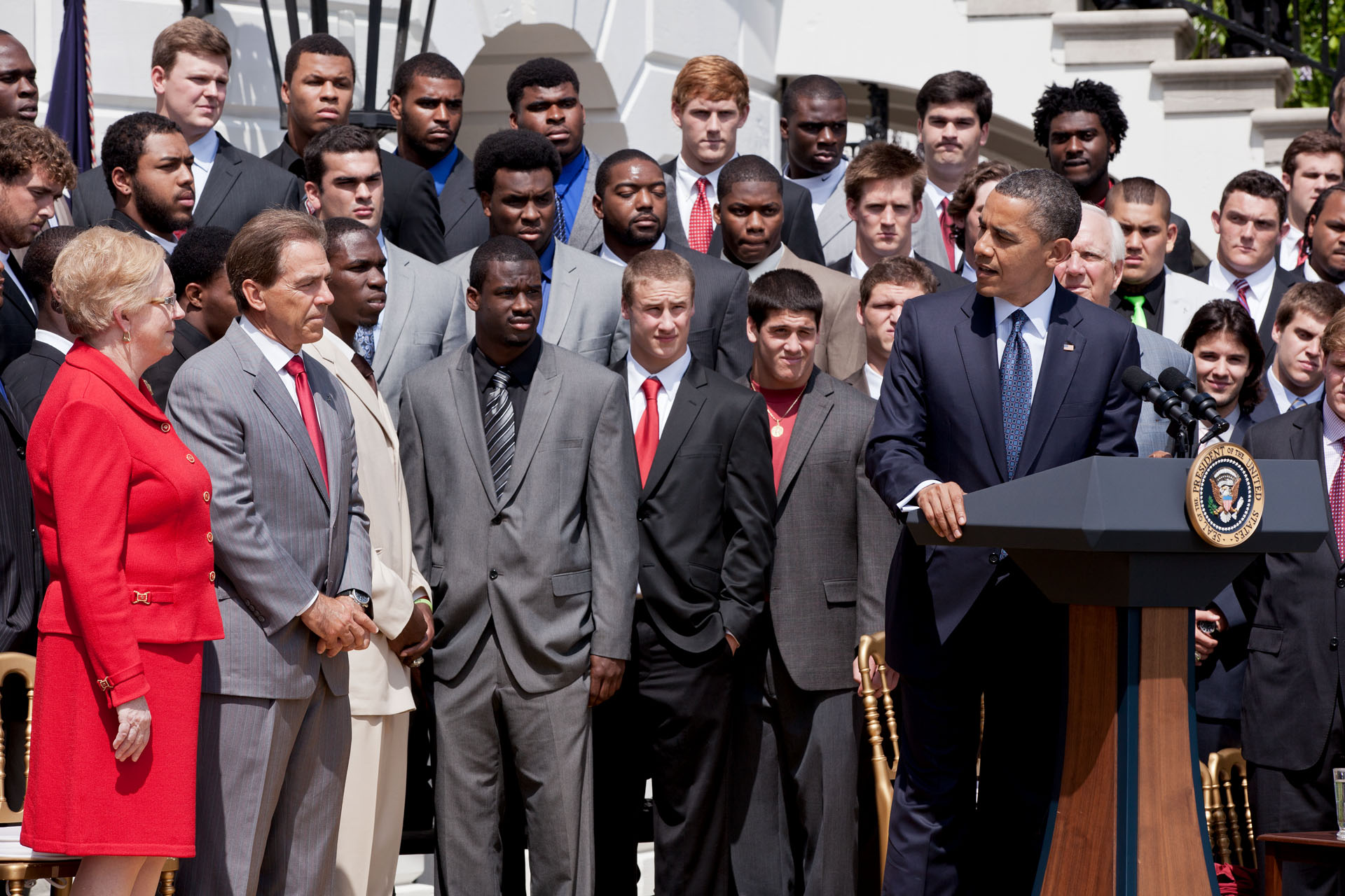 President Obama Welcomes the BCS National Champion University of Alabama football team to the White House