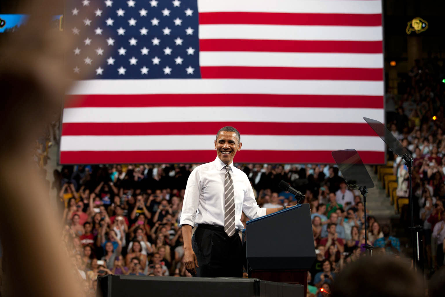 President Obama at the University of Colorado Coors Event Center