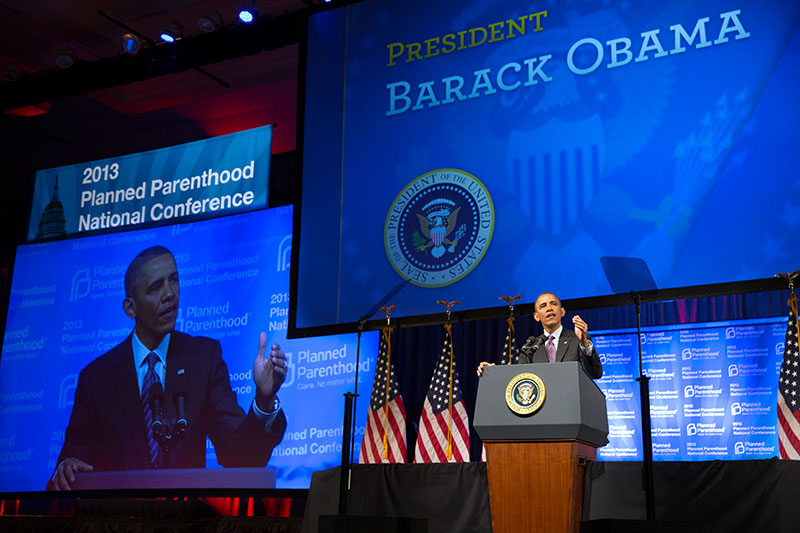 President Barack Obama delivers remarks at the 2013 Planned Parenthood National Conference