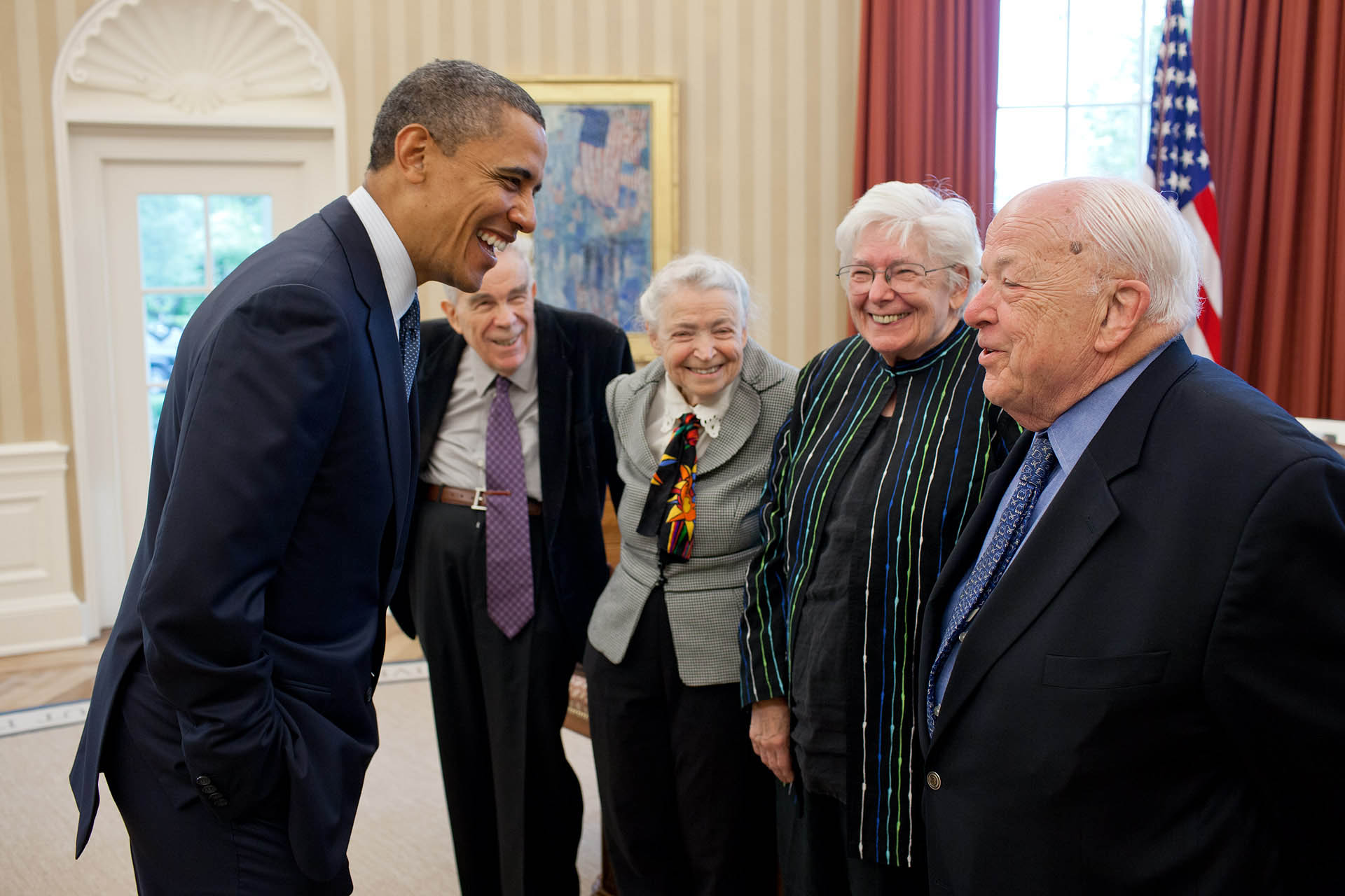 President Obama Greets 2010 Fermi Award Recipients