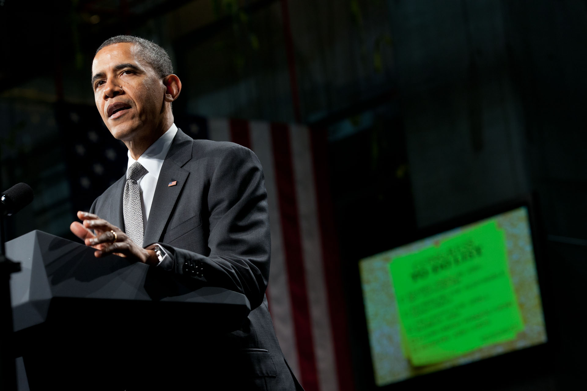 President Barack Obama delivers remarks on the economy at the State University of New York, in Albany