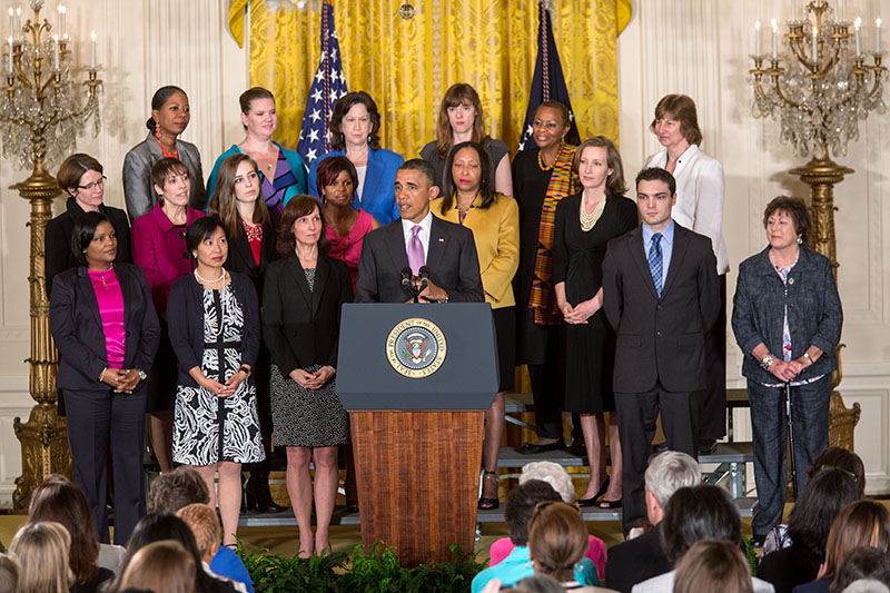 President Barack Obama delivers a statement on the Affordable Care Act