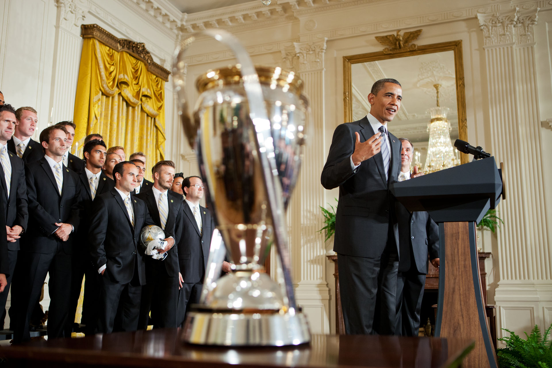 President Barack Obama Welcomes Major League Soccer Champions, the LA Galaxy
