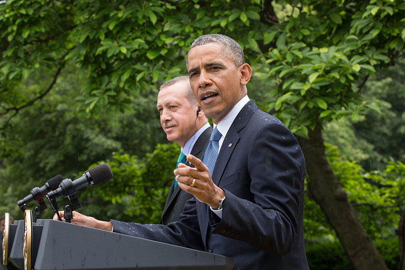 President Barack Obama and Prime Minister Recep Tayyip Erdoğan of Turkey hold a press conference