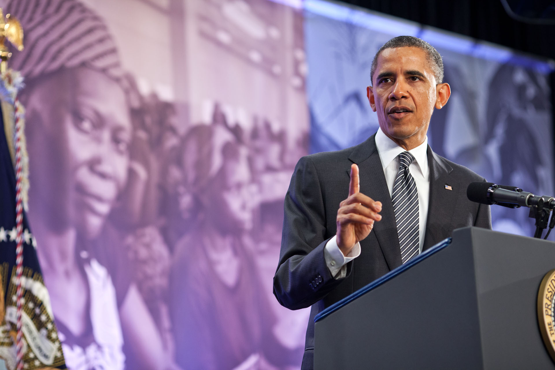 President Barack Obama delivers remarks at the Symposium on Global Agriculture and Food Security