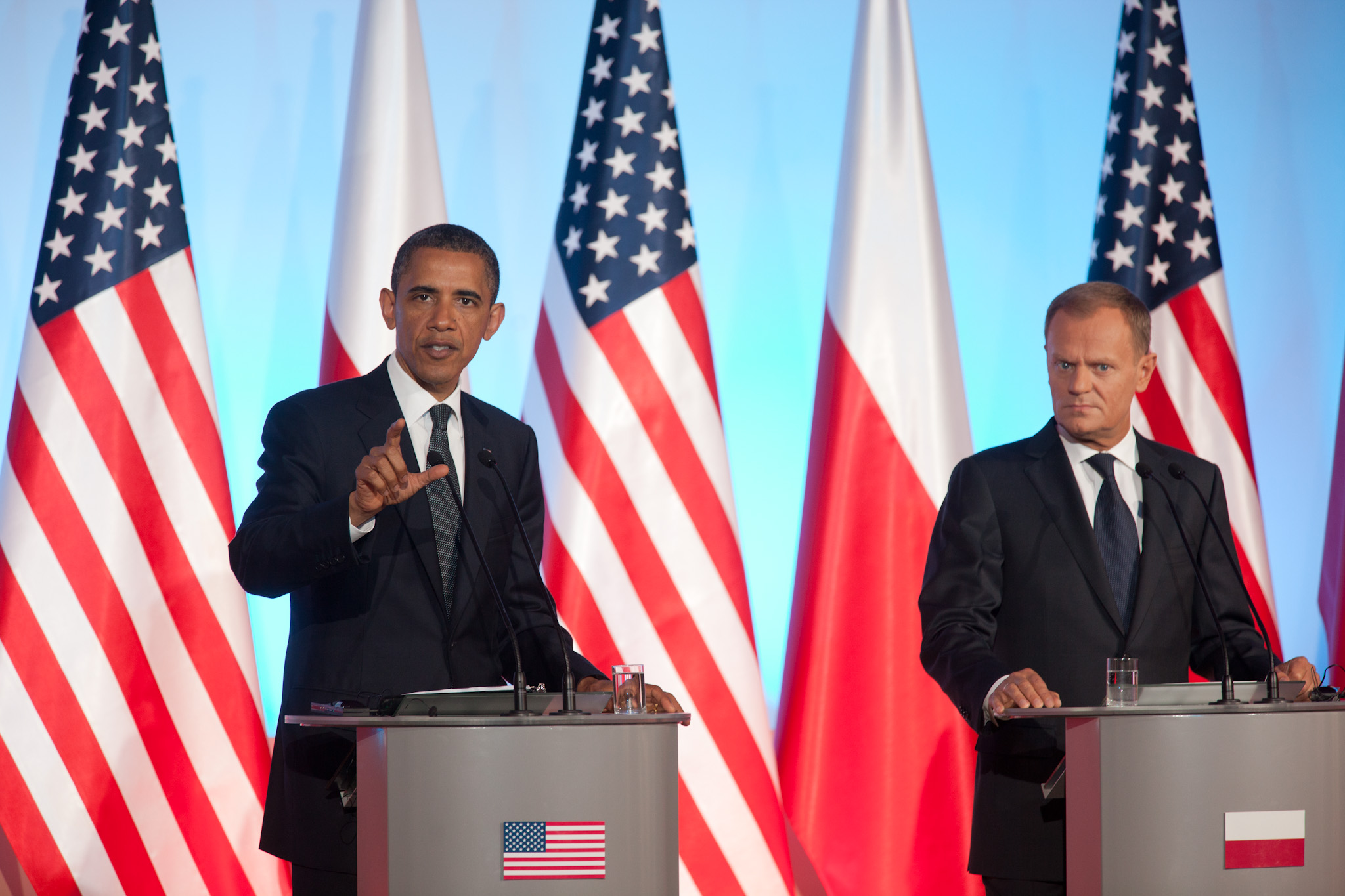President Barack Obama and Polish Prime Minister Donald Tusk