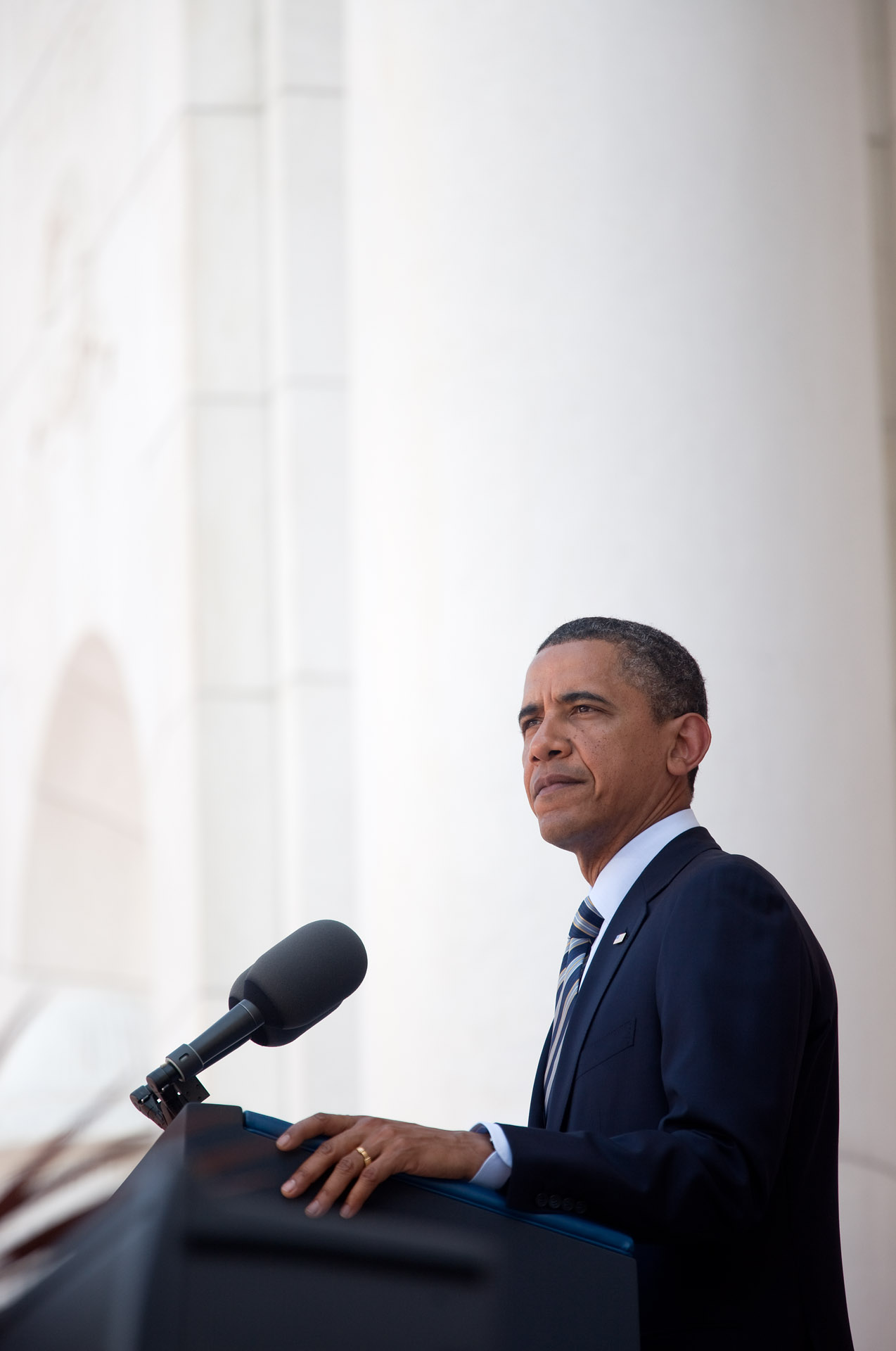 President Barack Obama Delivers Memorial Day Remarks at Arlington National Cemetery