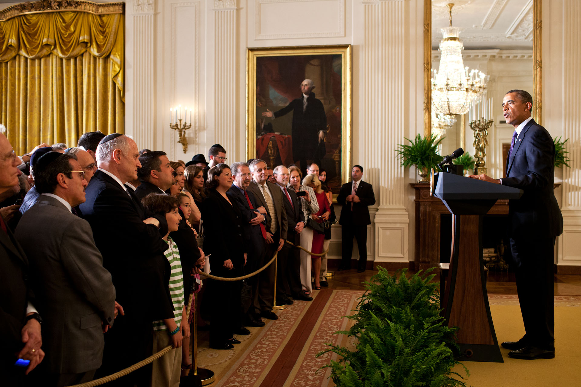 President Obama delivers remarks during a Jewish American Heritage Month reception May 30, 2012