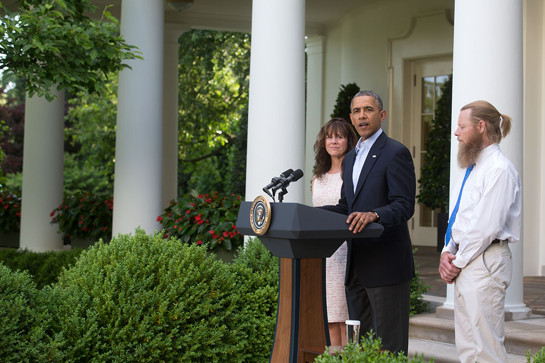 President Barack Obama announces the release of Sgt. Bowe Bergdahl