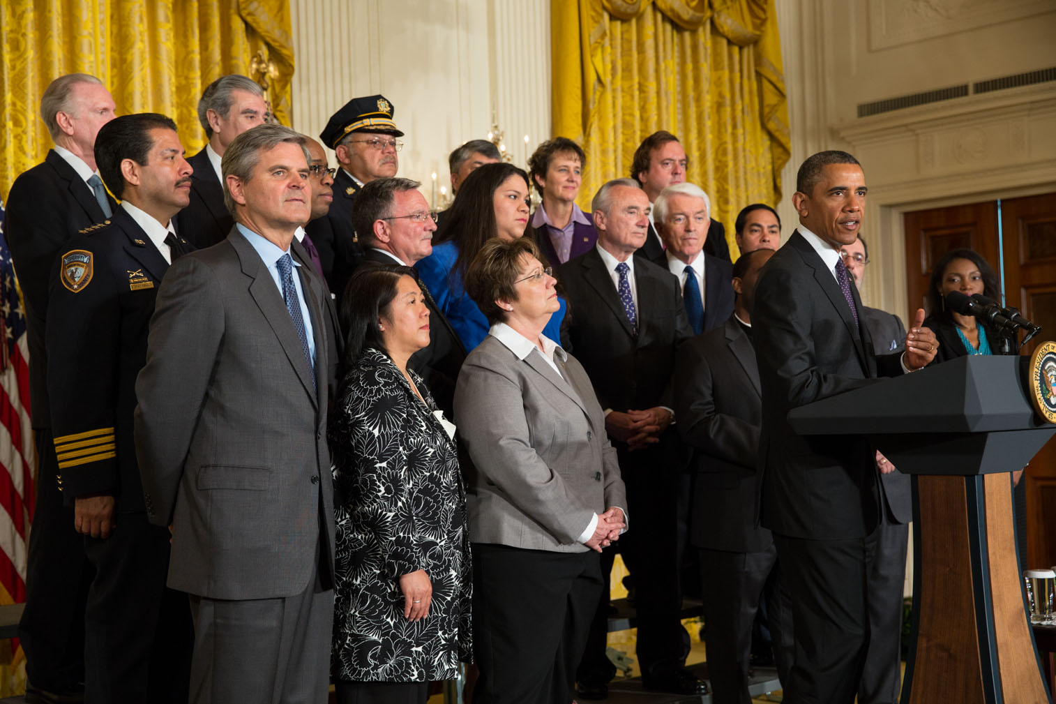 President Barack Obama delivers remarks on immigration reform in the East Room