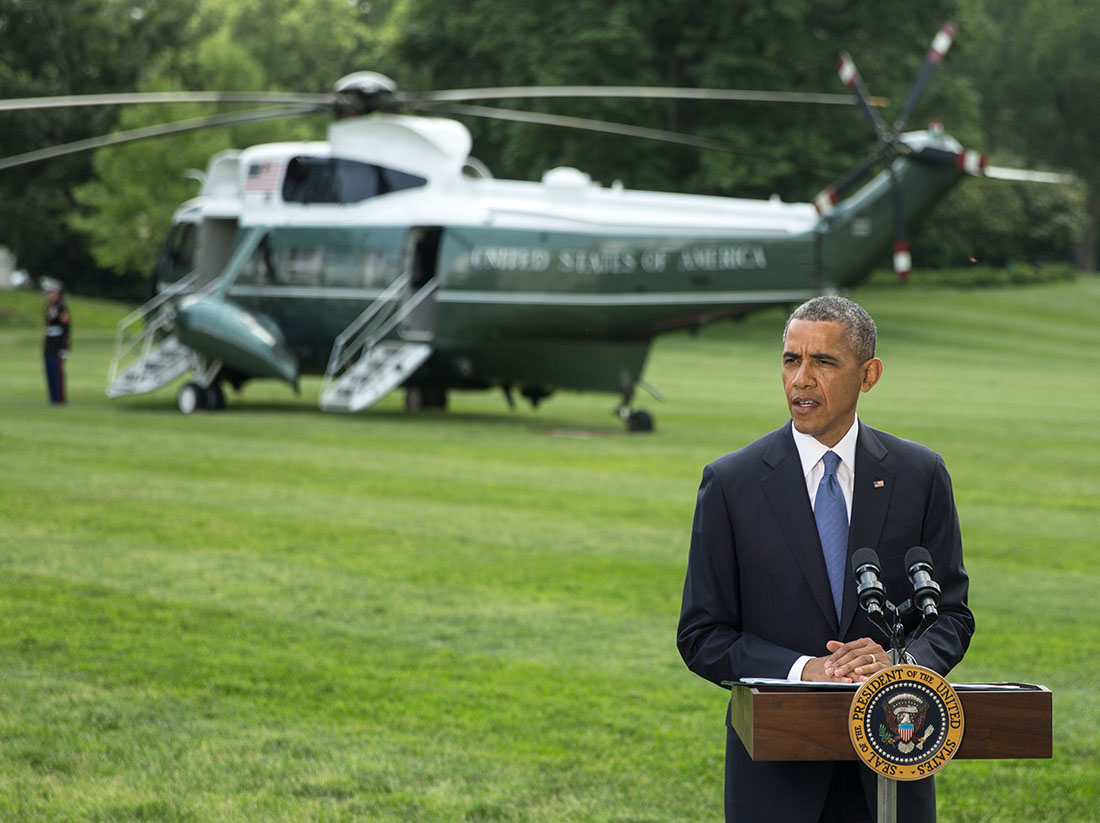 President Barack Obama delivers a statement regarding Iraq