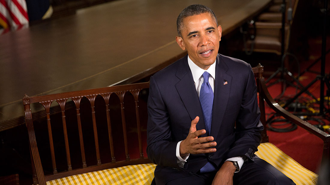 President Barack Obama tapes the Weekly Address, June 13, 2014