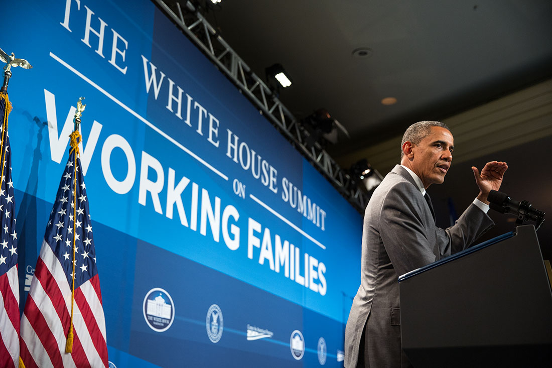 President Barack Obama delivers remarks at the White House Summit on Working Families, at the Omni Shoreham Hotel, Washington, D.C., June 23, 2014