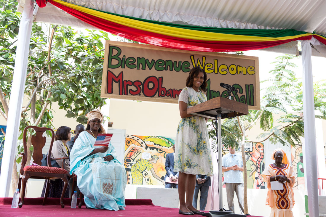 First Lady Michelle Obama delivers remarks in Senegal