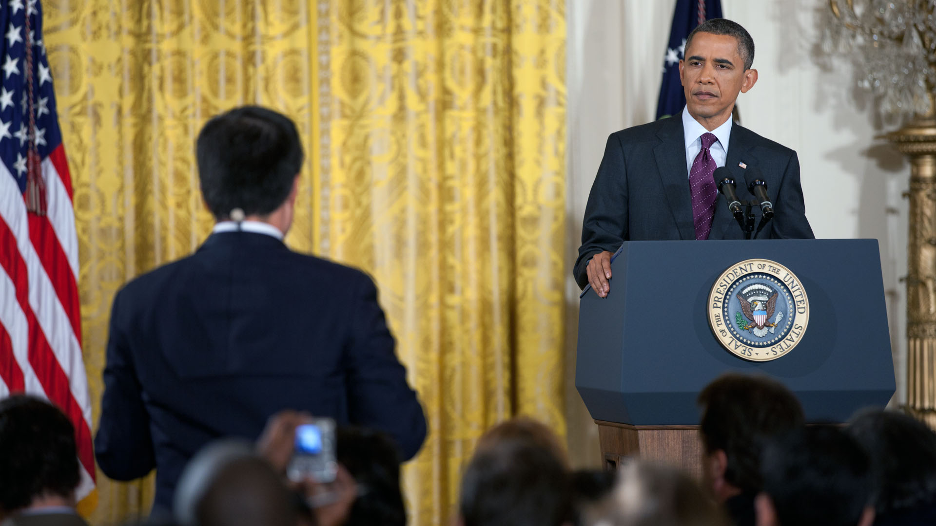 President Barack Obama Listens to a Question During a Press Conference