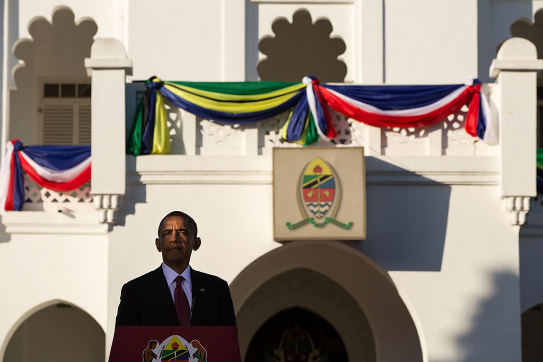 President Barack Obama participate in a joint press conference with President Jakaya Kikwete