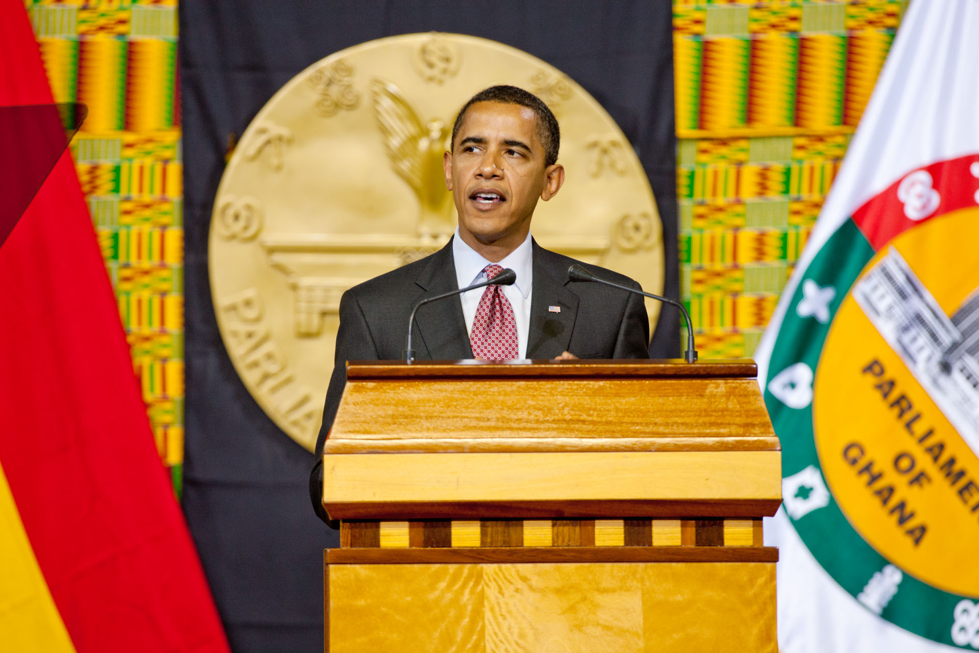 President Barack Obama delivers remarks to Parliament in Accra, Ghana, July 11, 2009