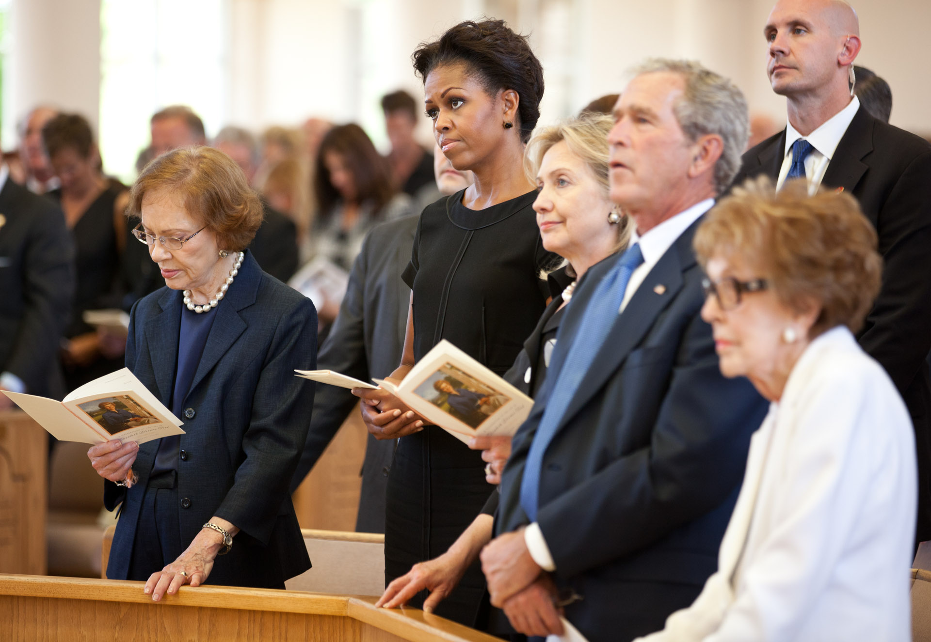 First Lady Michelle Obama Attends Funeral for Former First Lady Betty Ford