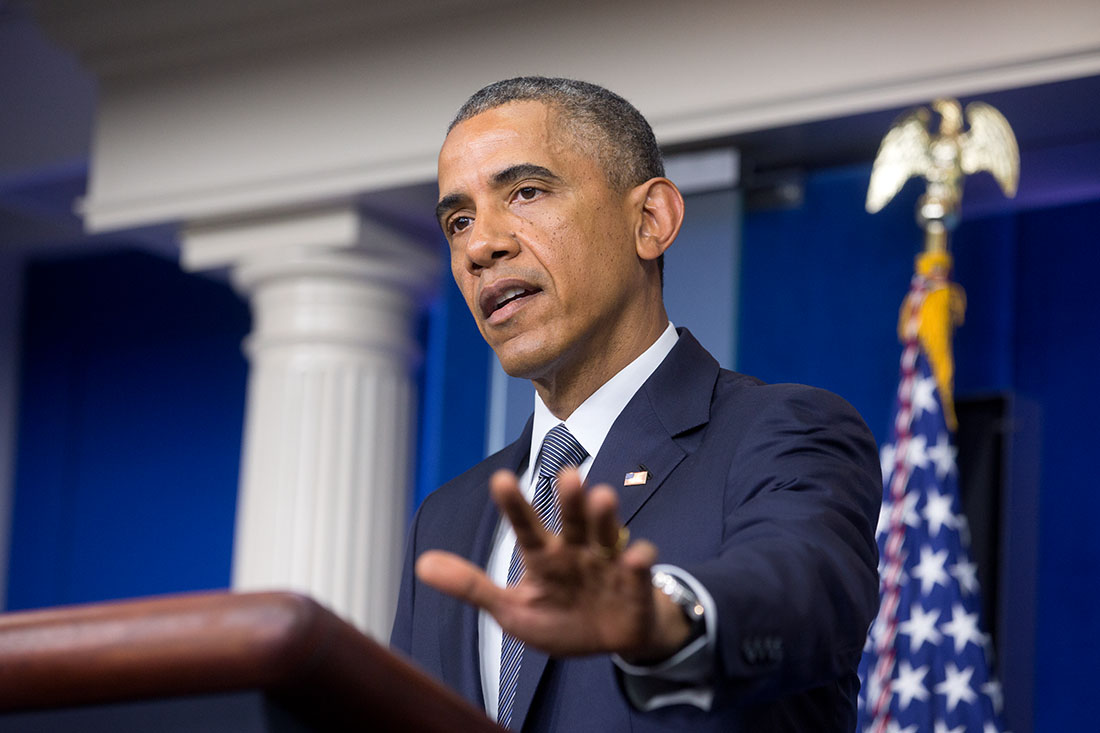 President Barack Obama delivers a statement on the crash of Malaysia Airlines Flight 17 and the situation in Ukraine