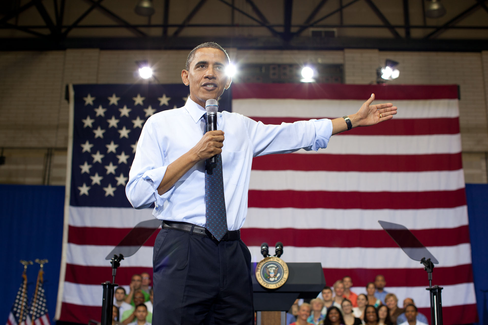 President Barack Obama takes Questions During a Town Hall on Deficit Reduction