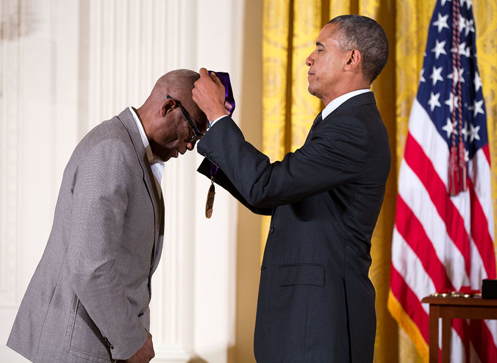 President Obama presents Bill T. Jones with the National Medal of Arts