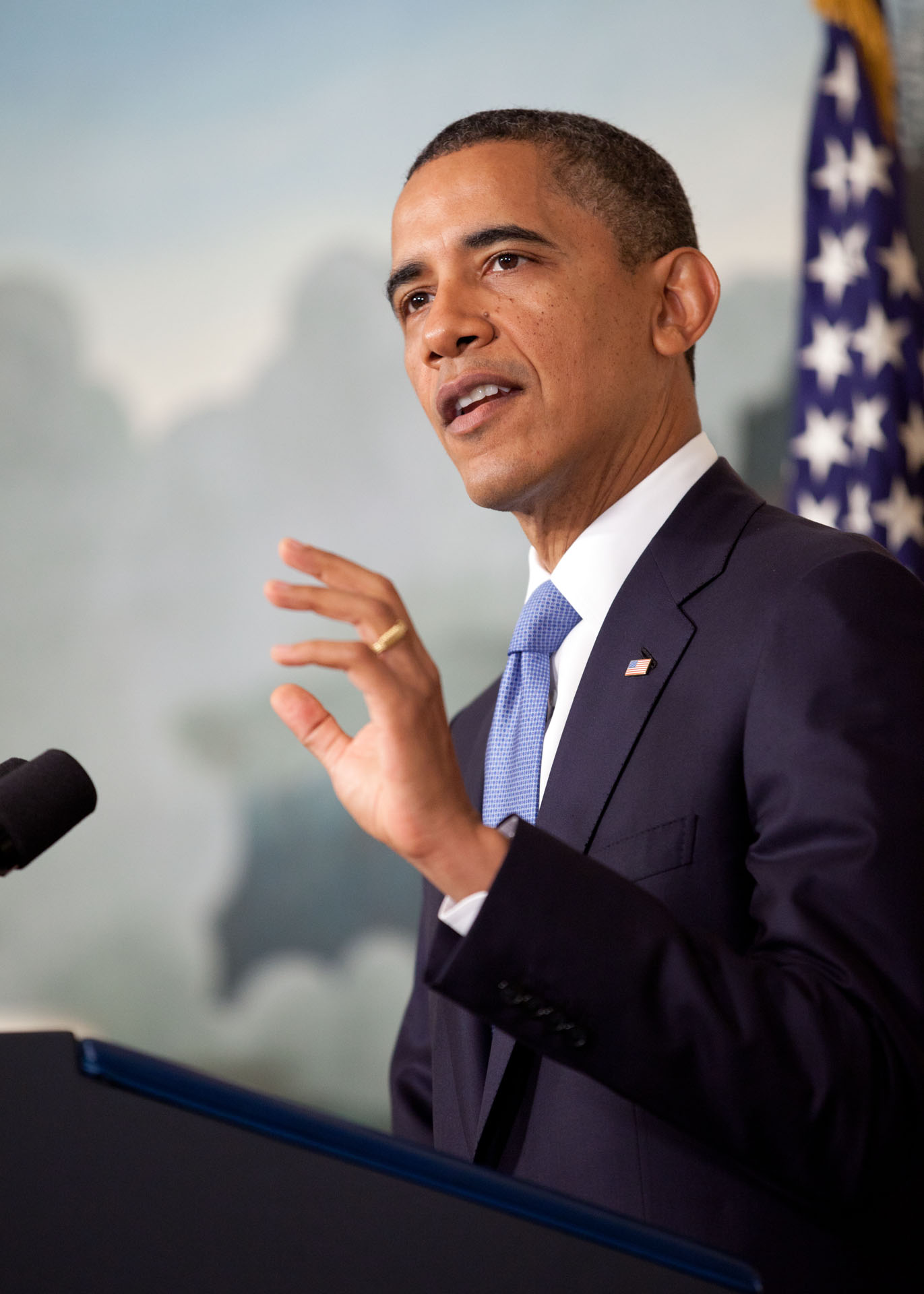 President Barack Obama Delivers a Statement on the Ongoing Budget Negotiations