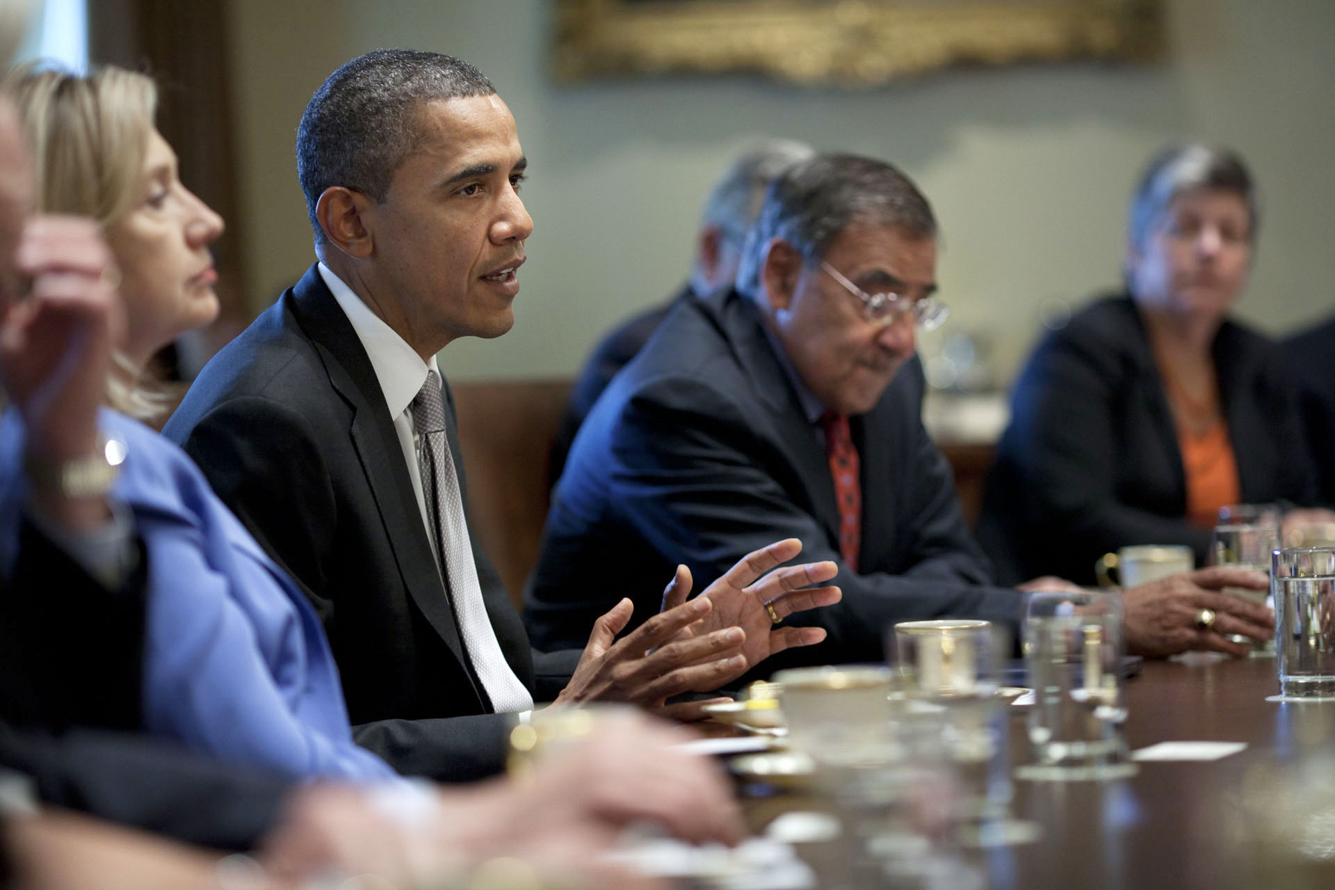 President Barack Obama Speaks with Members of his Cabinet