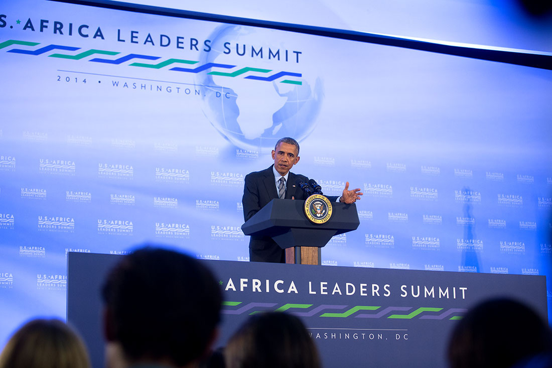 President Barack Obama holds a press conference during the U.S.-Africa Leaders Summit