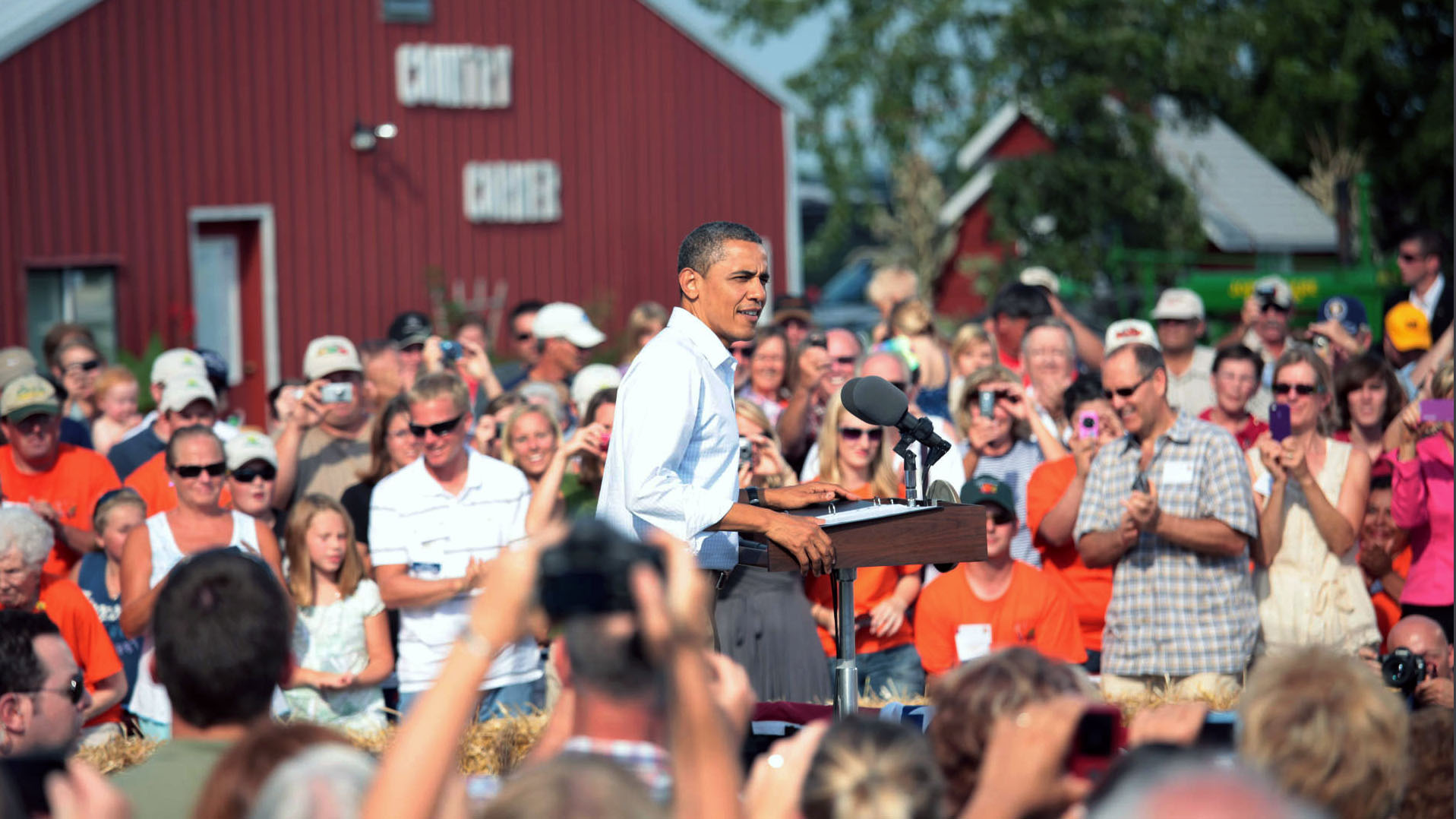 President Obama in Alpha, Illinois