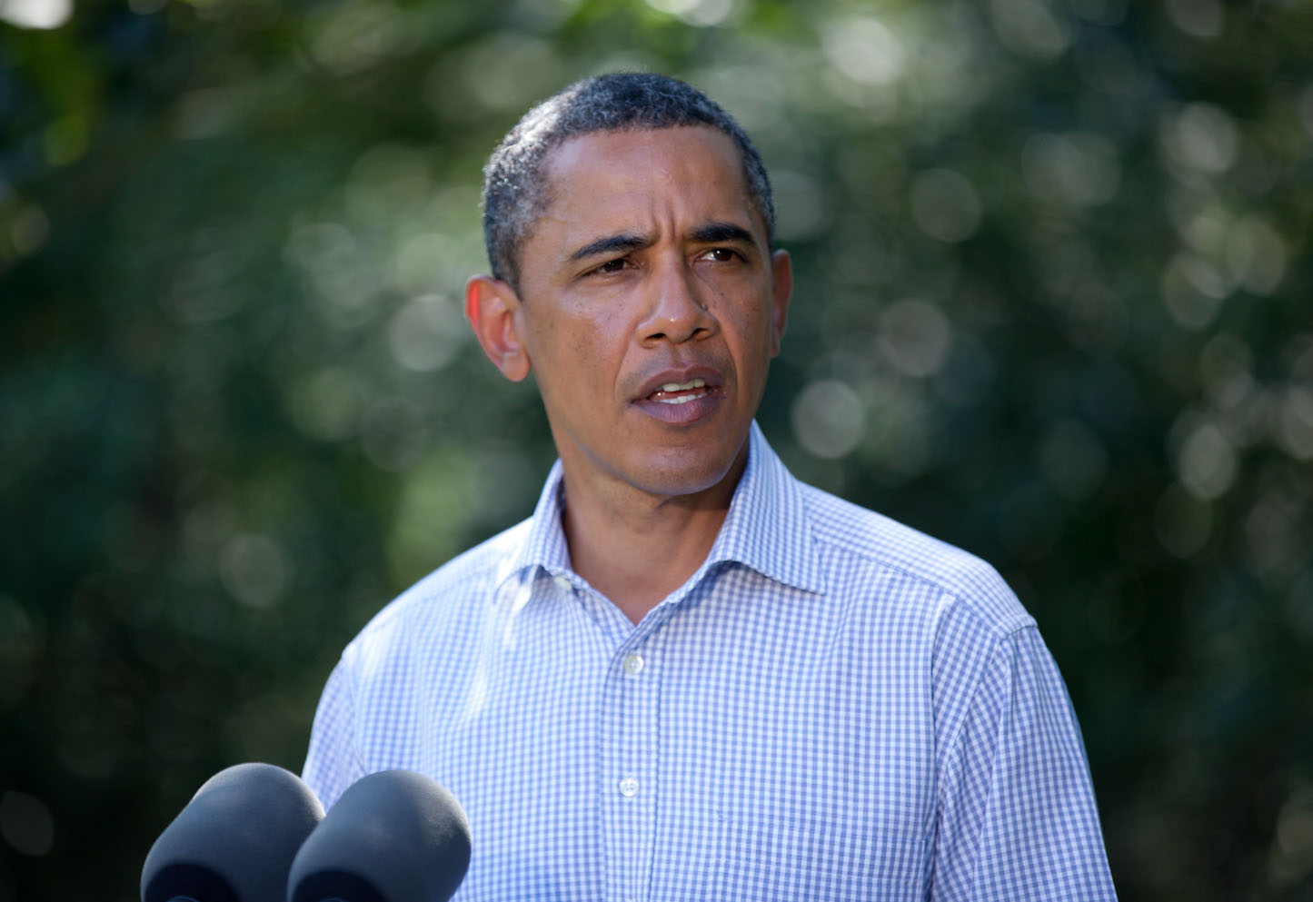 President Barack Obama makes statement on Hurricane Irene