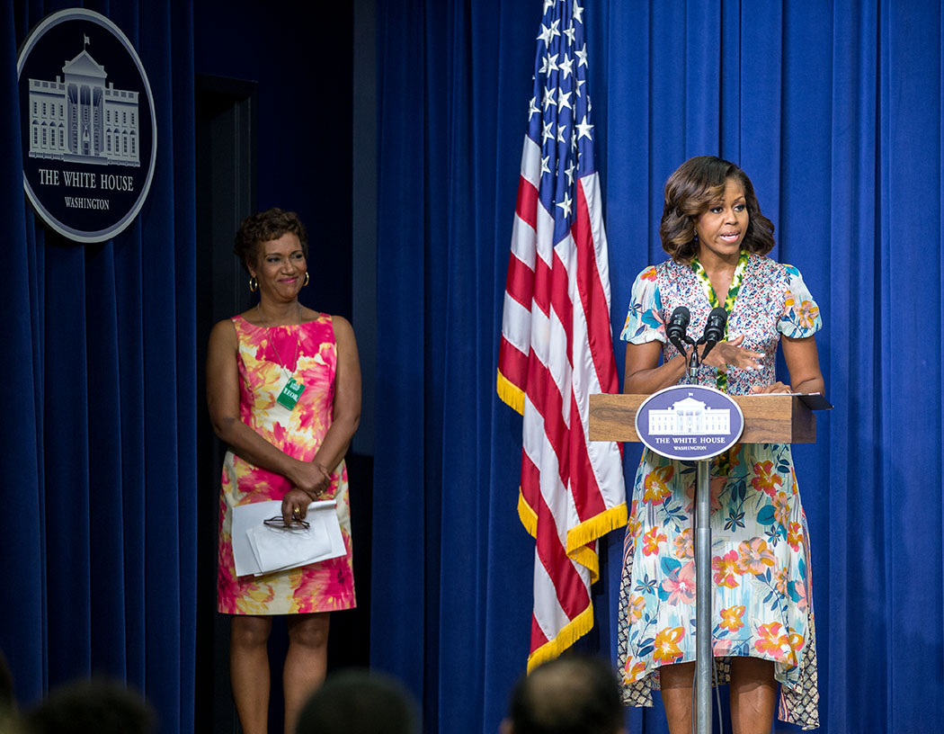 First Lady Michelle Obama at a screening of