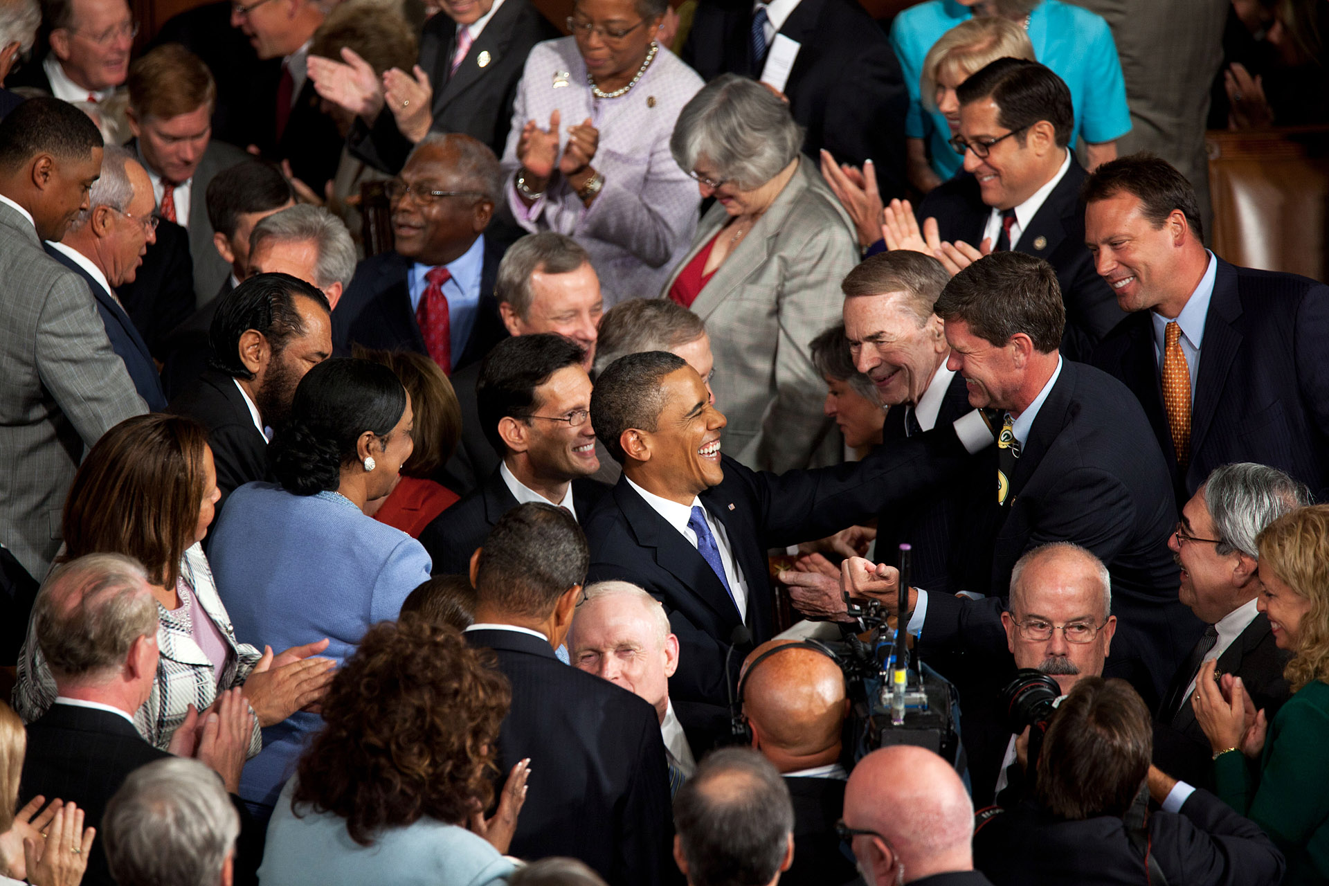 President Barack Obama Shakes Hands With Members Of Congress