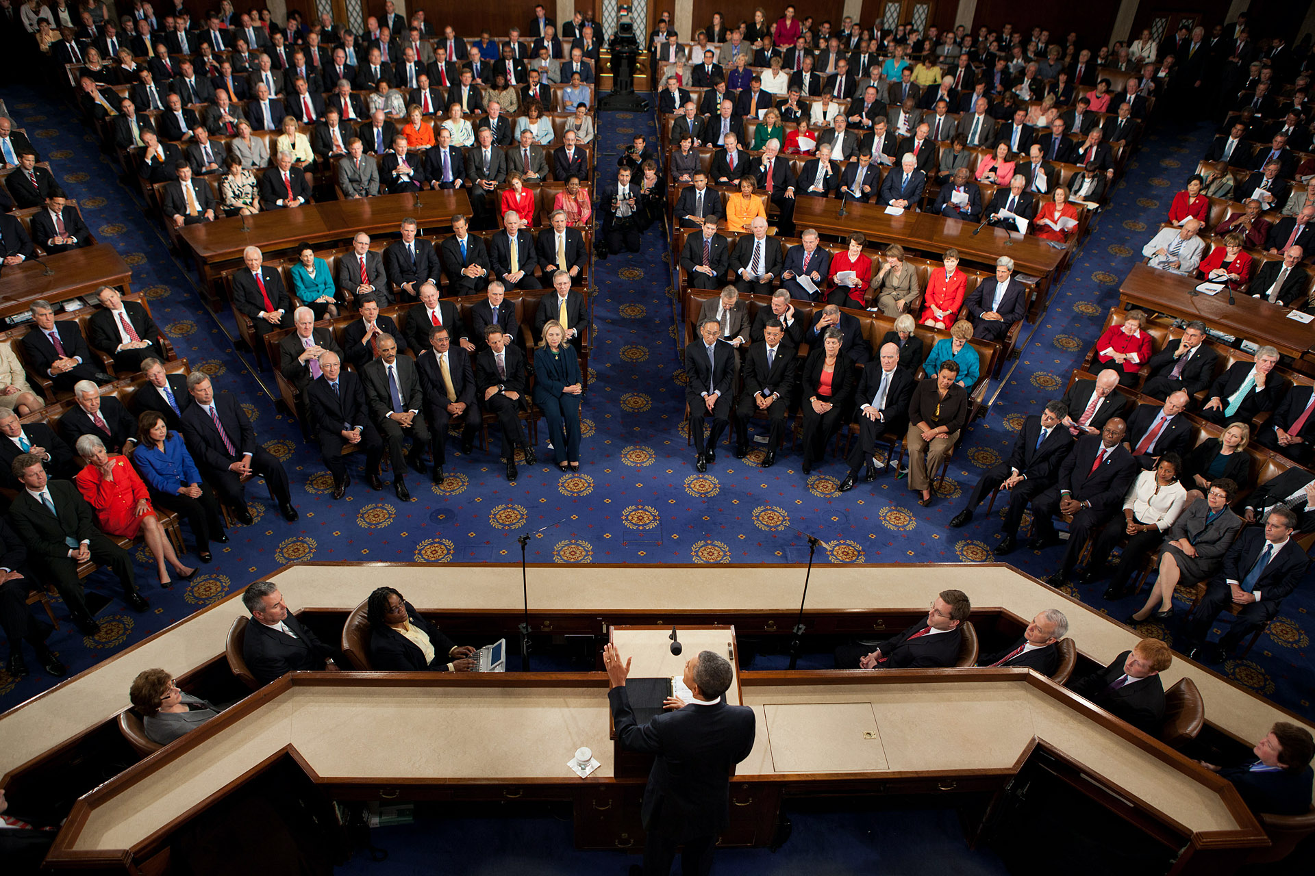 President Barack Obama Delivers An Address To Congress