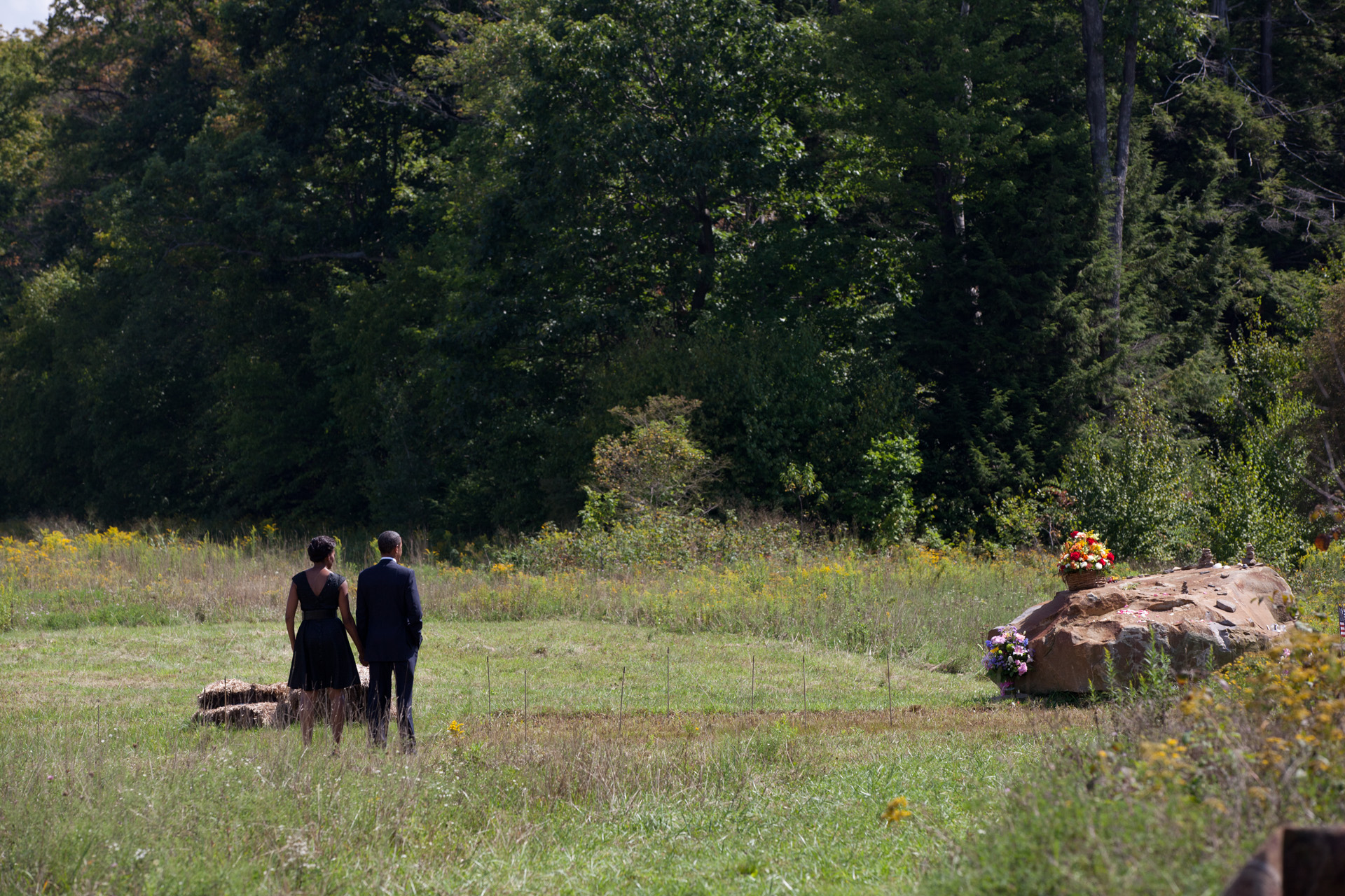 President Barack Obama And First Lady Visit Site Of Flight 93 Crash