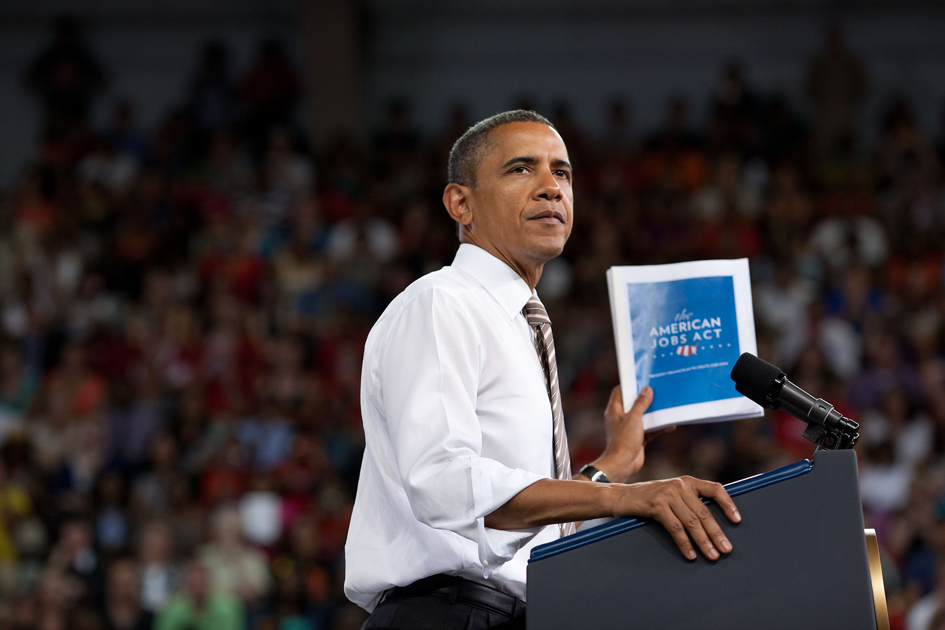 President Barack Obama delivers remarks on the American Jobs Act in N.C.